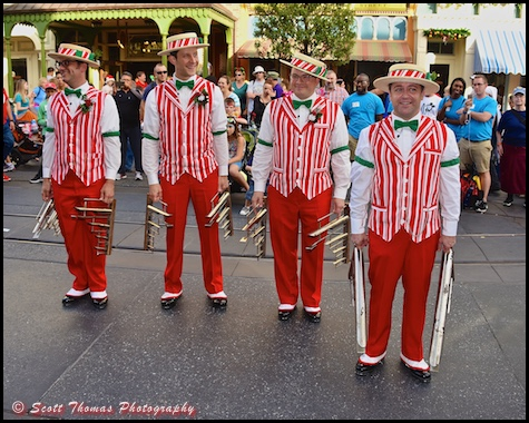Dapper Dans playing the Deagan Organ Chimes on Main Street USA in the Magic Kingdom, Walt Disney World, Orlando, Florida