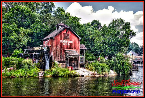 Harper's Mill on Tom Sawyer Island at the Magic Kingdom, Walt Disney World, Orlando, Florida