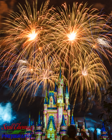Happily Ever After Fireworks and Castle Projection Show in the Magic Kingdom, Walt Disney World, Orlando, Florida