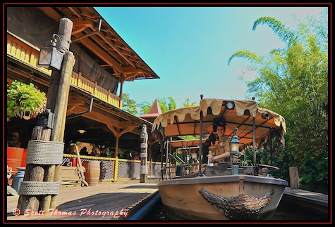 Skipper of a Jungle Cruise boat at the Magic Kingdom, Walt Disney World, Orlando, Florida