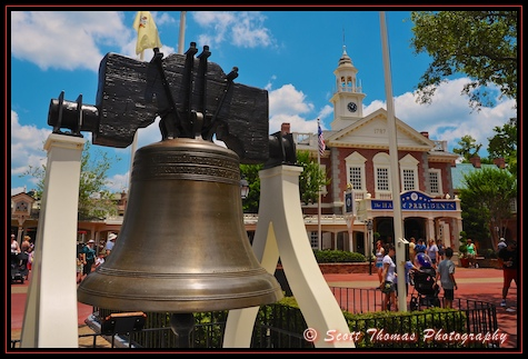 Hall of Presidents behind the Liberty Bell in Magic Kingdom's Liberty Square, Walt Disney World, Orlando, Florida
