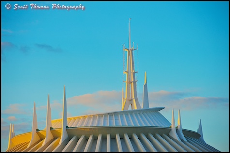 Magic Kingdom's Space Mountain at Magic Hour, Walt Disney World, Orlando, Florida