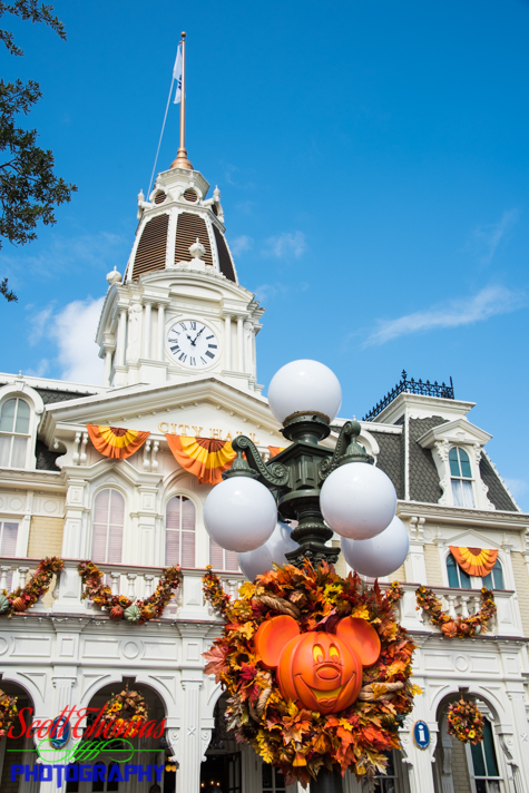 City Hall celebrating Halloween on Main Street USA at the Magic Kingdom, Walt Disney World, Orlando, Florida