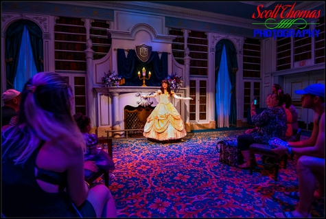 Enchanted Tales with Belle in Fantasyland at the Magic Kingdom, Walt Disney World, Orlando, Florida