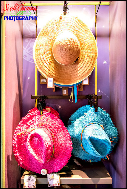 Hats on display inside Disney Outfitters shop in Disney's Animal Kingdom, Walt Disney World, Orlando, Florida