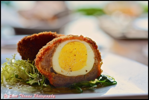 Scotch Egg appetizer from the Rose & Crown Pub in Epcot's United Kingdom, Walt Disney World, Orlando, Florida