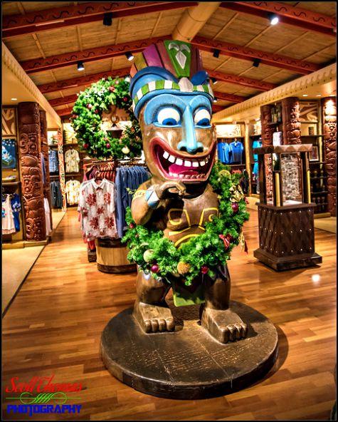 Tiki God statue inside the Boutiki shop at the Polynesian Village Resort, Walt Disney World, Orlando, Florida