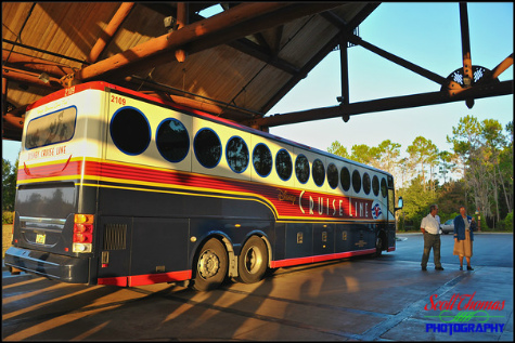 Disney Cruise Line bus at Disney's Wilderness Resort, Walt Disney World, Orlando, Florida