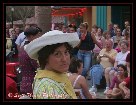 A Streetmosphere performance of The Dating Game in Disney's Hollywood Studios, Walt Disney World, Orlando, Florida