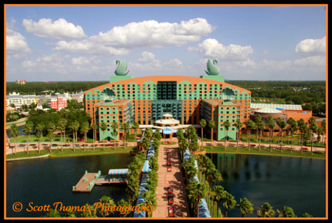 Swan Resort in the Boardwalk Resort area, Walt Disney World, Orlando, Florida.