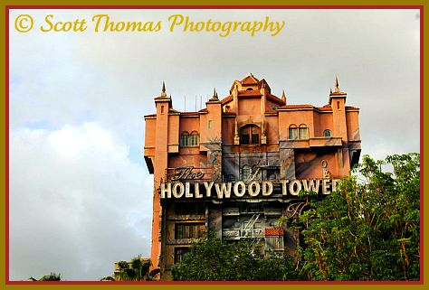 The Twilight Zone Tower of Terror in Disney's Hollywood Studios, Walt Disney World, Orlando, Florida.