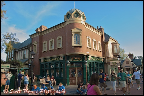 The Rose and Crown PUb in the United Kingdom pavilion in Epcot's World Showcase, Walt Disney World, Orlando, Florida