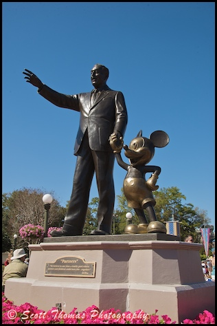 FPartner's Statue in the Magic Kingdom, Walt Disney World, Orlando, Florida.