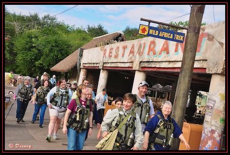 My group heads out on the Wild Africa Trek in Disney's Animal Kingdom, Walt Disney World, Orlando, Florida.
