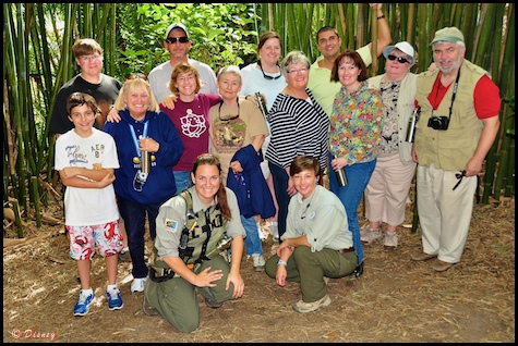 Scott and his fellow adventures and guides from the Wild Africa Trek in Disney's Animal Kingdom, Walt Disney World, Orlando, Florida.