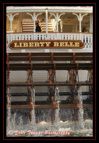 The Liberty Belle Riverboat Water Wheel in the Magic Kingdom, Walt Disney World, Orlando, Florida