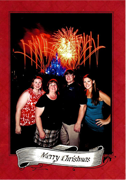 Wishes Christmas Card from the Magic Kingdom, Walt Disney World, Orlando, Florida.
