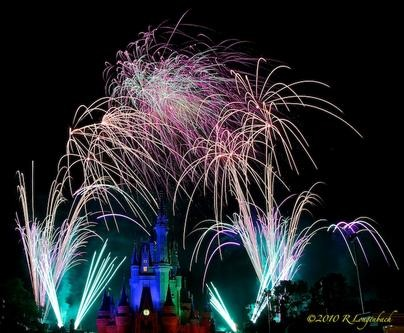 Wishes fireworks show at the Magic Kingdom, Orlando, Florida