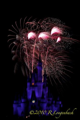 Wishes fireworks show at the Magic Kingdom, Walt Disney World, Orlando, Florida