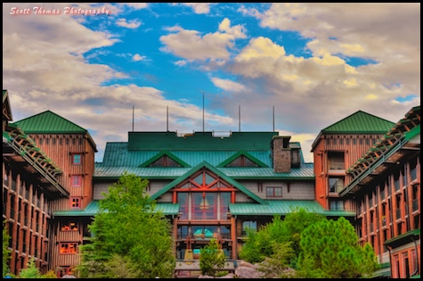 Final HDR Image of Disney's Wilderness Lodge, Walt Disney World, Orlando, Florida.