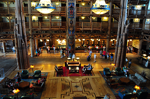 Lobby of the Wilderness Lodge