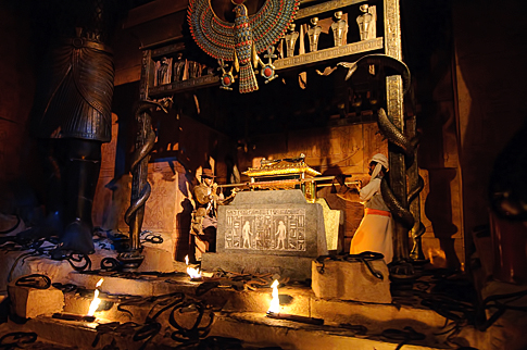 Indiana Jones scene in the Great Movie Ride