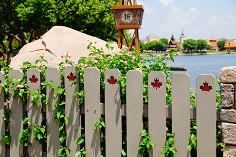 Canadian Fence in Epcot's World Showcase