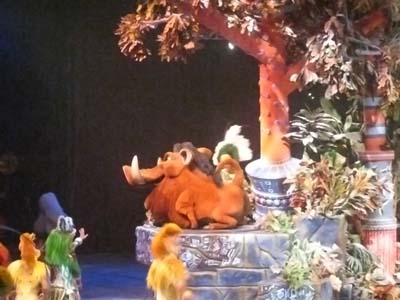 Pumbaa float in Lion King show