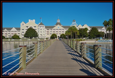Yacht Club dock with no shadow, Walt Disney World, Orlando, Florida.