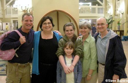 Ed, Vickie, Abby and Caroline, Karen and I