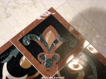 Marble Floor in Grand Floridian Hidden Mickey