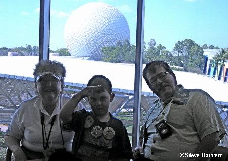 Carol, Bob and Grandson GM VIP Lounge