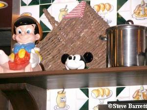 Lost Hidden Mickey - Mickey Sugar Bowl Once in Boardwalk Bakery