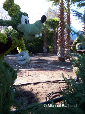 Goofy and Donald Topiary