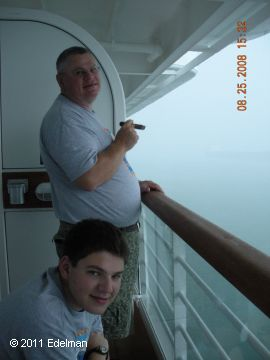 Michael and Aaron, Panama Canal 2008