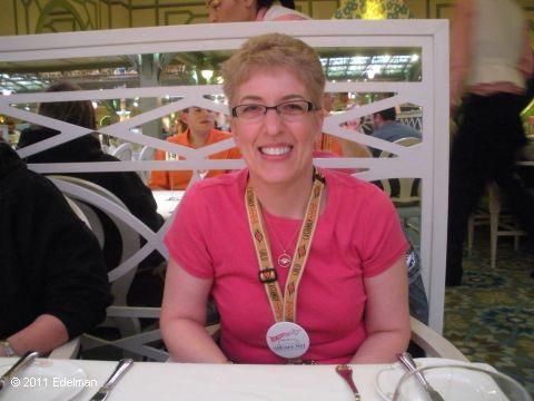 Lori at dinner