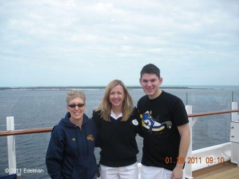 With cruise director, Rachel Quinn