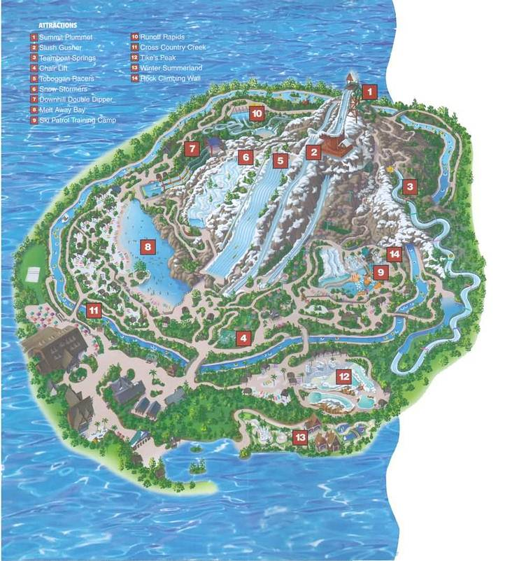 map of blizzard beach orlando Blizzard Beach Faq Allears Net map of blizzard beach orlando