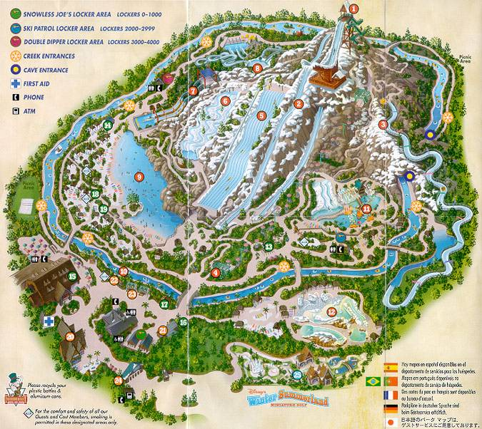 Blizzard Beach Map Blizzard Beach FAQ Blizzard Beach Map