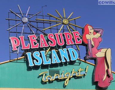 Pleasure Island Tonight Sign