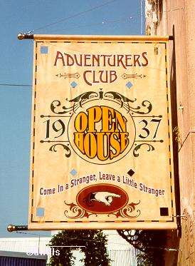 Adventurer's Club Sign