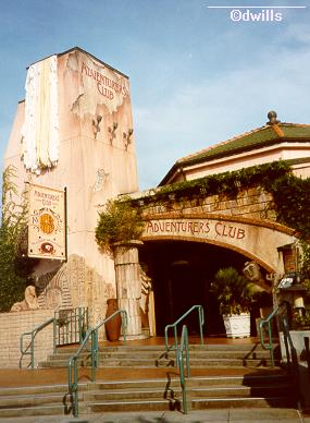 Exterior of the Adventurers Club