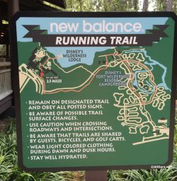 Wilderness Lodge and Fort Wilderness Running Trail