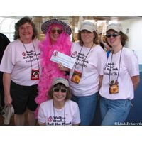 Ms Dee Vah accepting Breast Cancer Donation from MouseFanTravel
