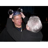 Mike Scopa receiving his Dream Mouse Ears