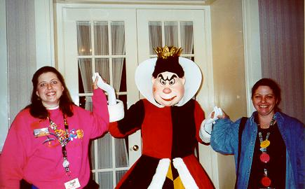 Susan, Jenn and the Queen of Hearts
