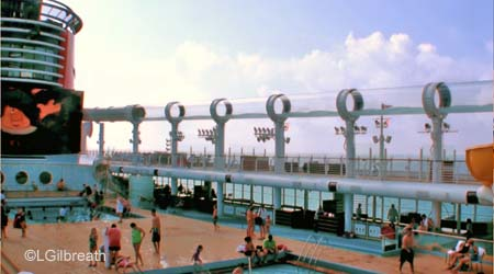 AquaDuck starboard side on Disney Dream