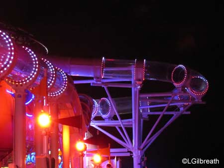 AquaDuck at night on Disney Dream