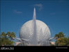 Disney World Wallpaper Spaceship Earth and Fountain