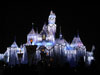 Disneyland Wallpaper Castle with Ice Lighting